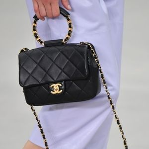 CHANEL✨20 Circular Handle Small Quilted Flap Bag